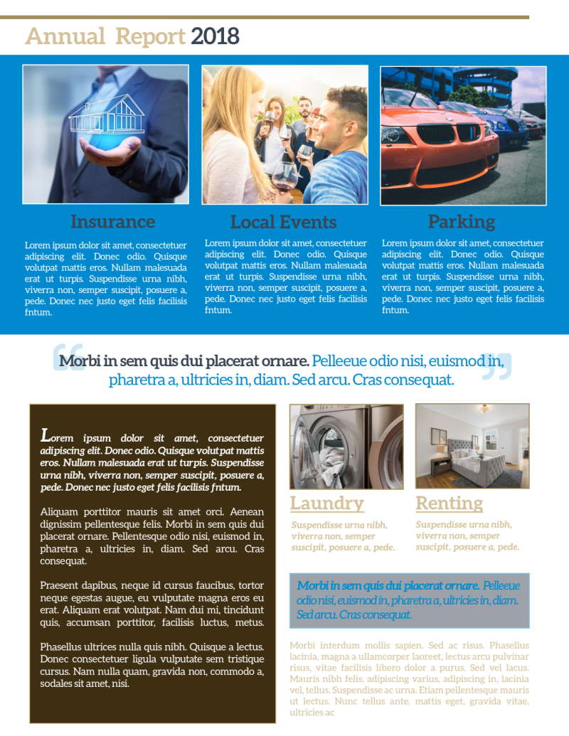 Professional Apartment Newsletter Template Preview 3