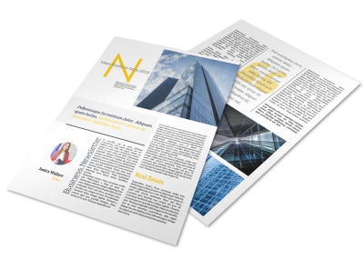 Real Estate Newsletter Template preview