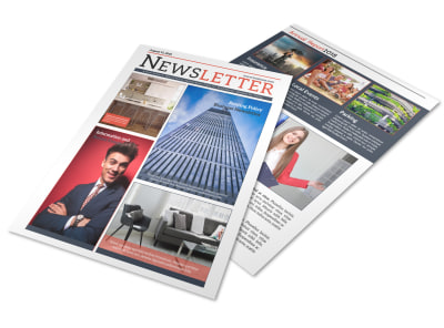 Classic Real Estate Newsletter Template preview