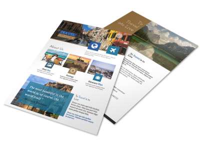 Beautiful Travel Agency Flyer Template preview