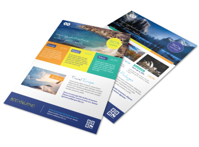 Beautiful Travel Activities Flyer Template preview