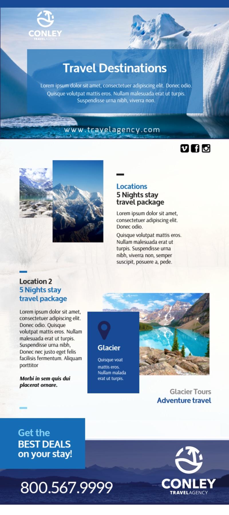 Conley Travel Activities Flyer Template Preview 2