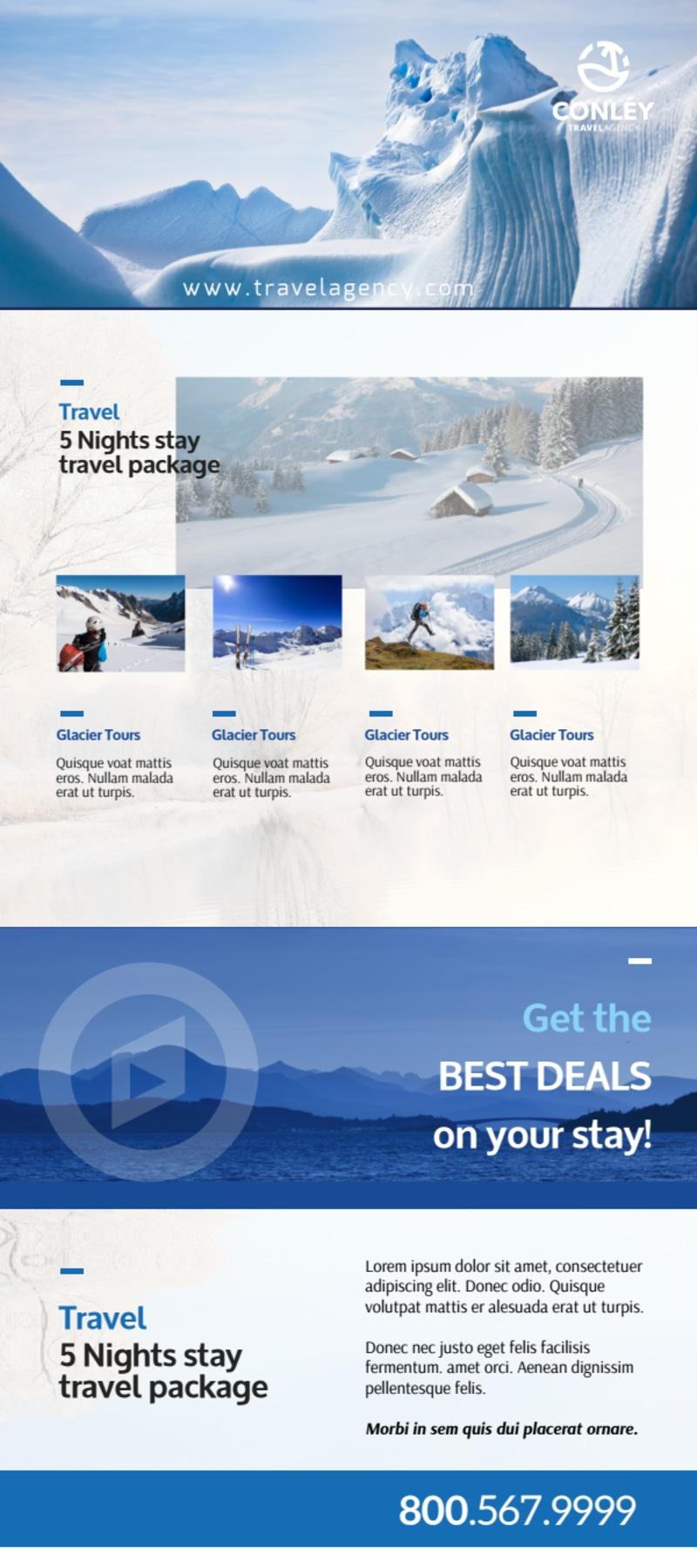 Conley Travel Activities Flyer Template Preview 3
