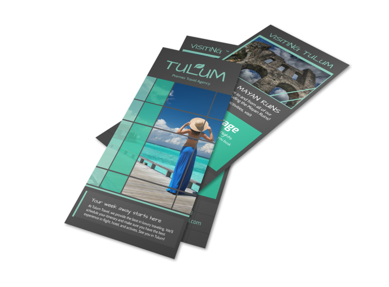 Tulum Vacation Packages Flyer Template Preview 4