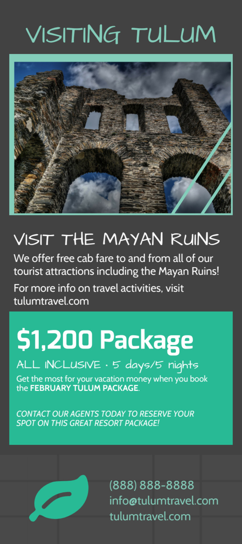Tulum Vacation Packages Flyer Template Preview 3
