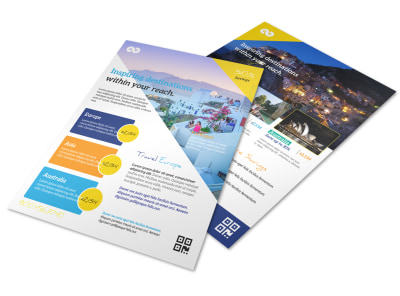 Inspire Travel Tour Flyer Template preview
