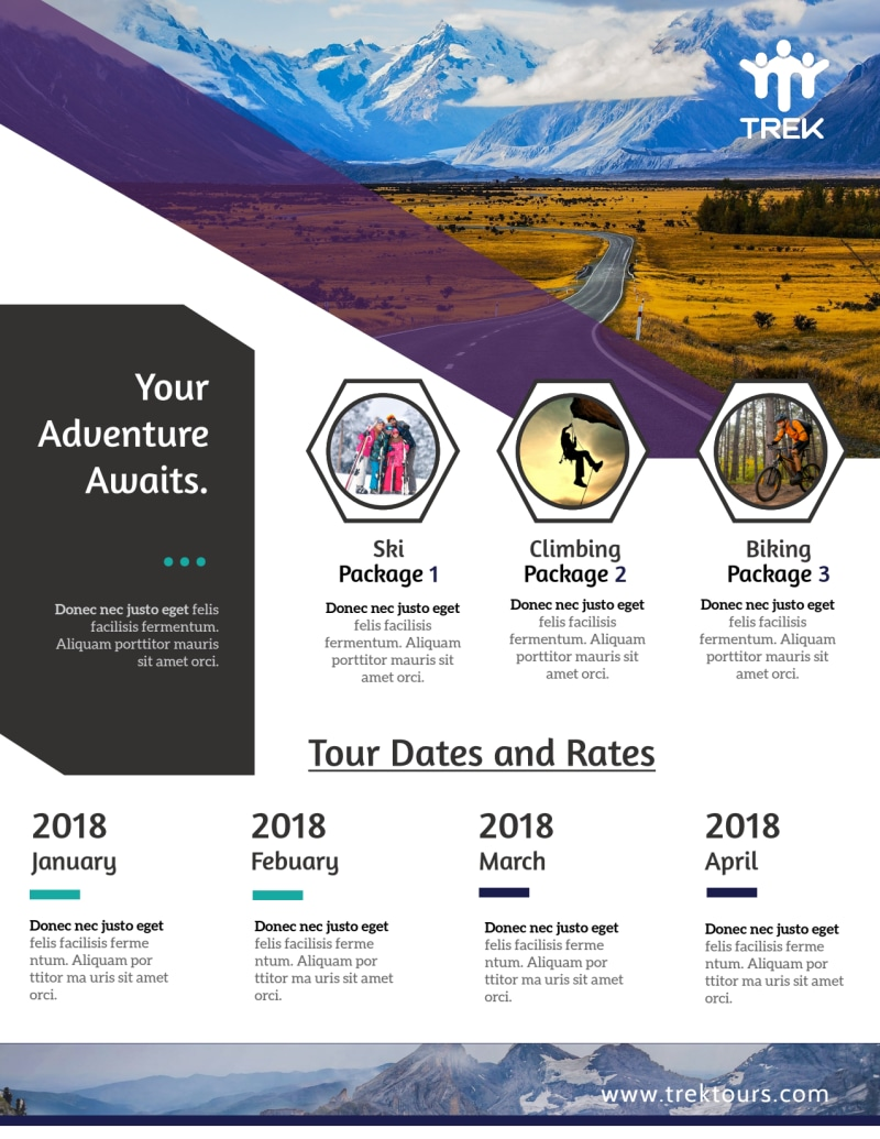 Awesome Tour Flyer Template Preview 2