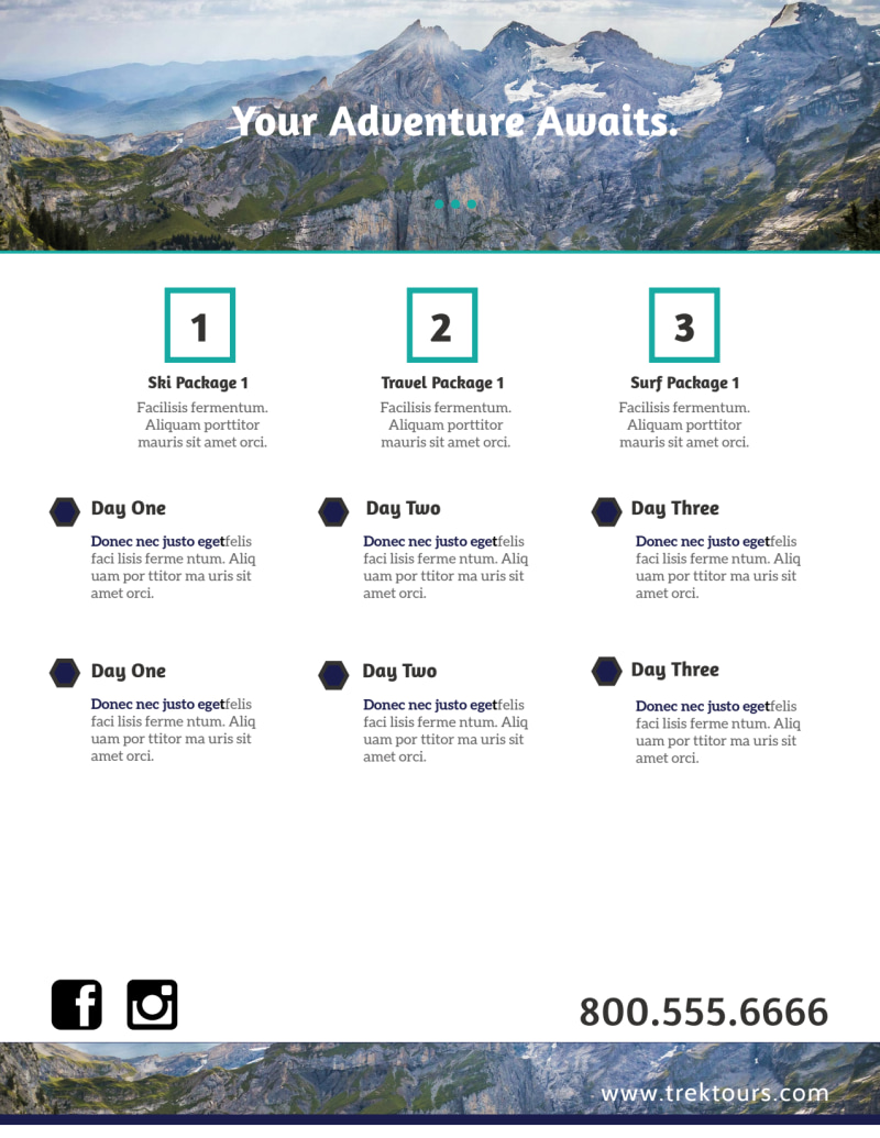 Awesome Tour Flyer Template Preview 3