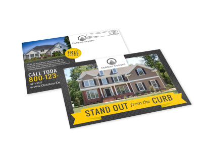 Stand Out Landscaping EDDM Postcard Template preview