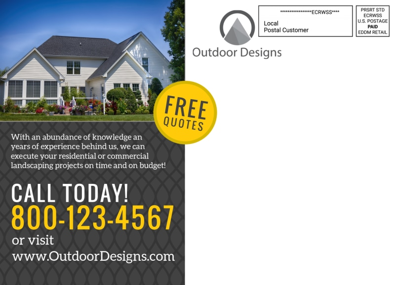 Stand Out Landscaping EDDM Postcard Template Preview 3