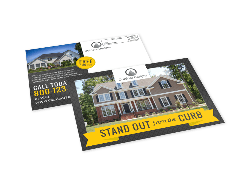 Stand Out Landscaping EDDM Postcard Template Preview 1