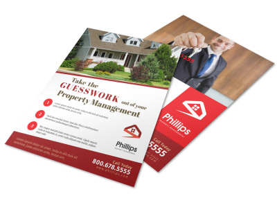 Property Management Guesswork Flyer Template preview