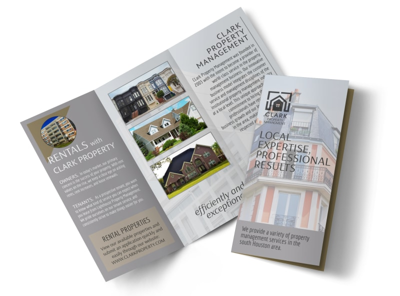 Property Management Expertise Tri-Fold Brochure Template