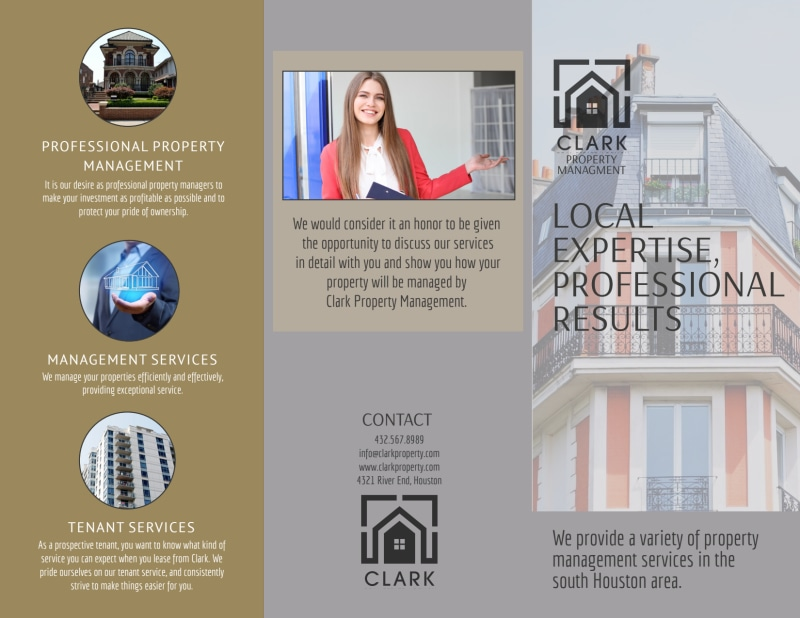 Property Management Expertise Tri-Fold Brochure Template Preview 2