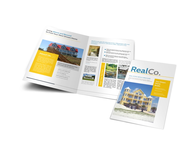 real property management bi fold brochure template mycreativeshop