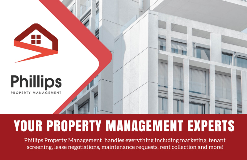 Phillips Property Management Postcard Template Preview 2