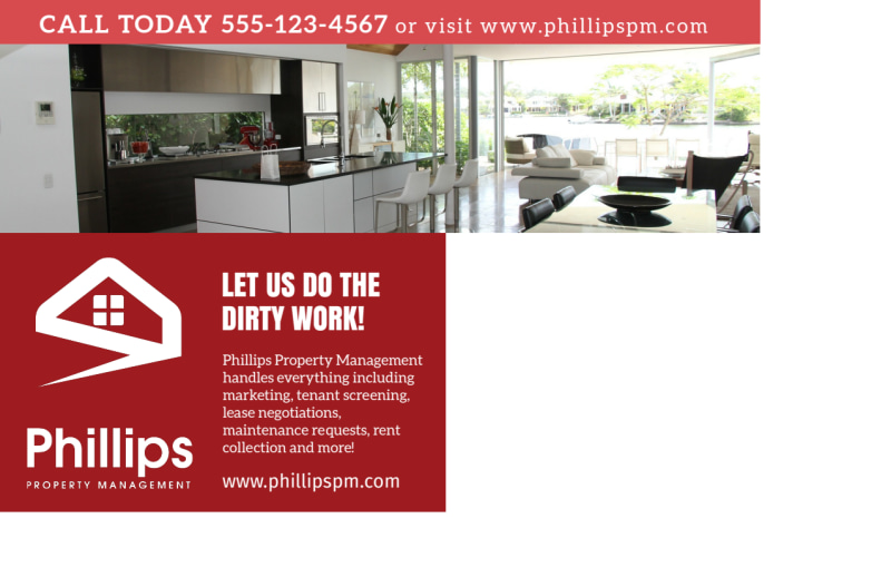 Phillips Property Management Postcard Template Preview 3