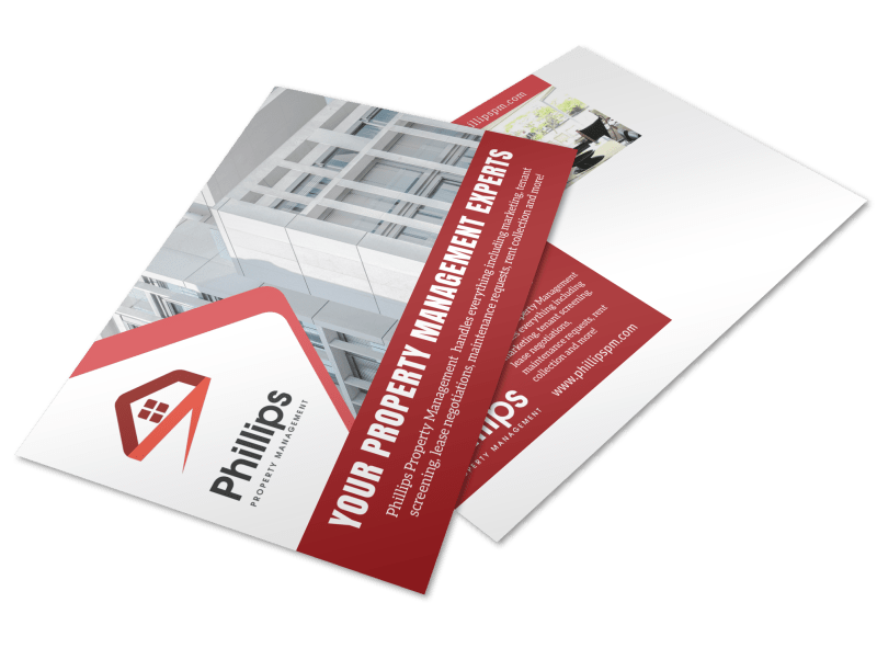 Phillips Property Management Postcard Template Preview 1