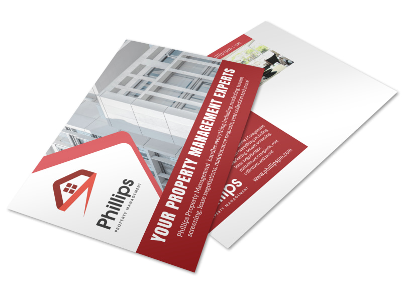 Phillips Property Management Postcard Template Preview 4