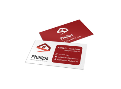 Property Management Director Business Card Template preview