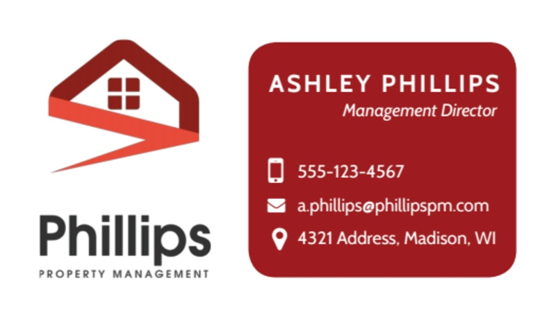 Property Management Director Business Card Template Preview 2