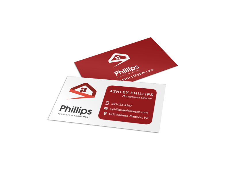 Property Management Director Business Card Template Preview 1