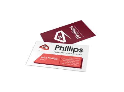 Property Management Business Cards Template Preview