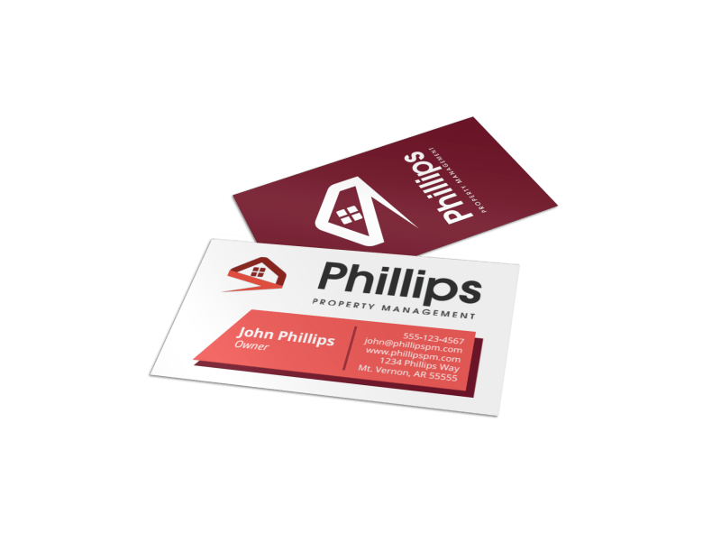 Phillips Property Management Business Card Template Preview 1