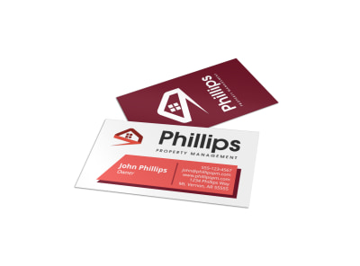 Real estate business card templates mycreativeshop phillips property management business card template fbccfo Image collections