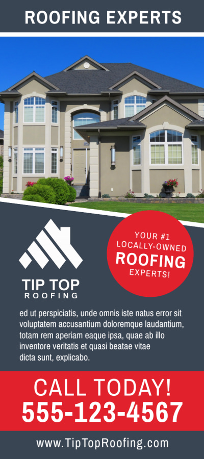 Local Roofing Flyer Template Preview 1