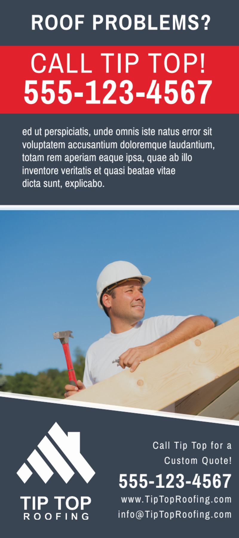 Local Roofing Flyer Template Preview 3