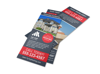 Local Roofing Flyer Template preview