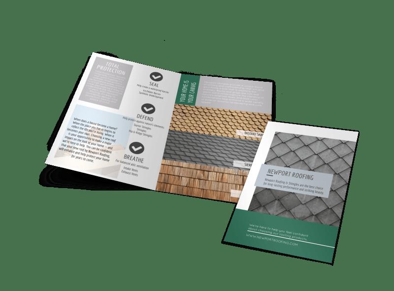 Newport Roofing Bi-Fold Brochure Template Preview 1