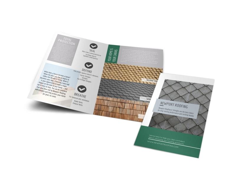 Newport Roofing Bi-Fold Brochure Template