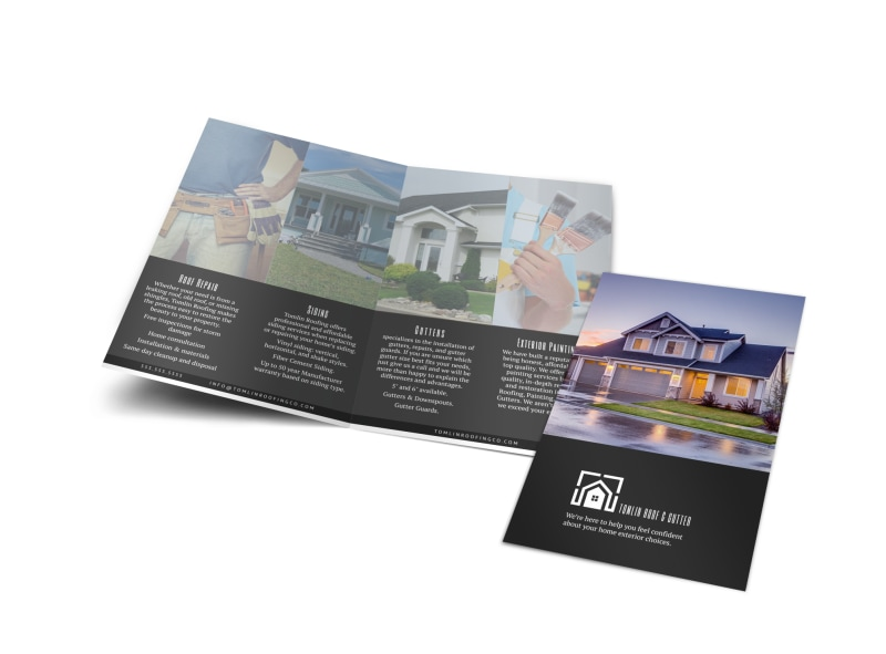 tomlin roofing bi fold brochure template mycreativeshop