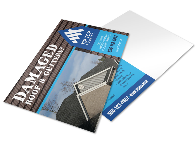 Damaged Roof Postcard Template