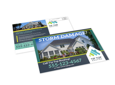 Storm Damage Roofing EDDM Postcard Template preview