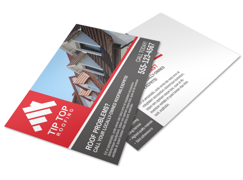 Roofing Problems Postcard Template Preview 4