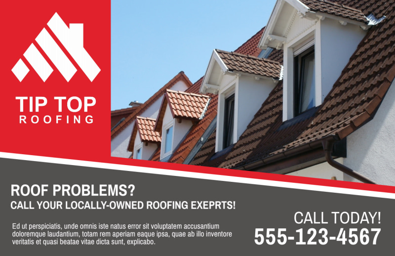 Roofing Problems Postcard Template Preview 2
