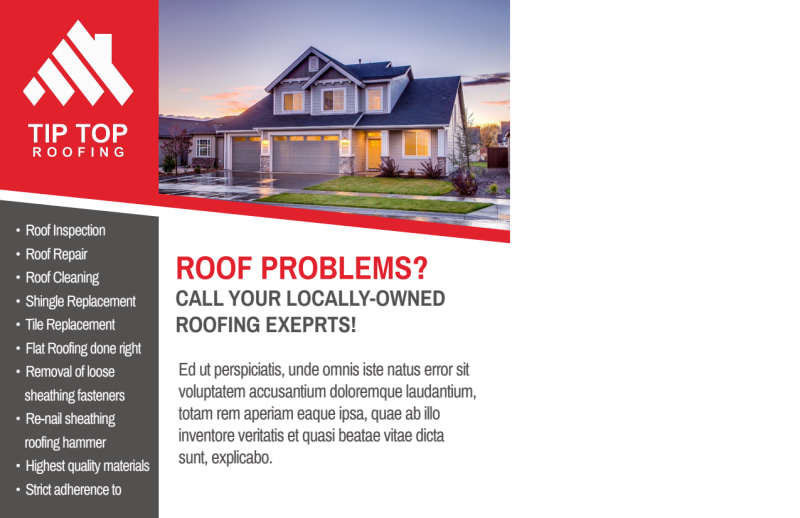 Roofing Problems Postcard Template Preview 3
