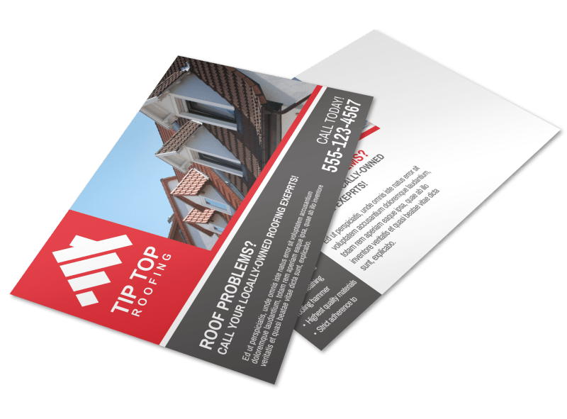 Roofing Problems Postcard Template Preview 1