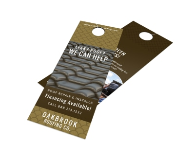 Roofing Door Hanger Template preview