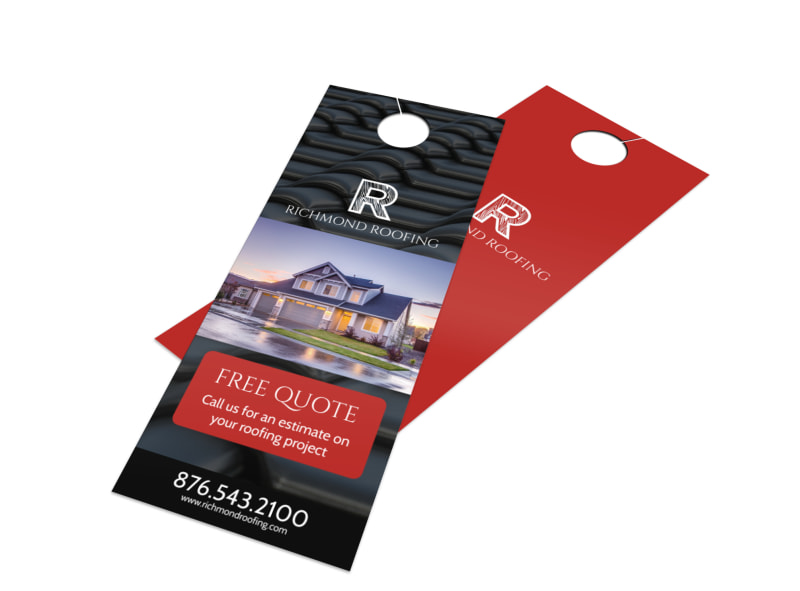 Roofing Quote Door Hanger Template
