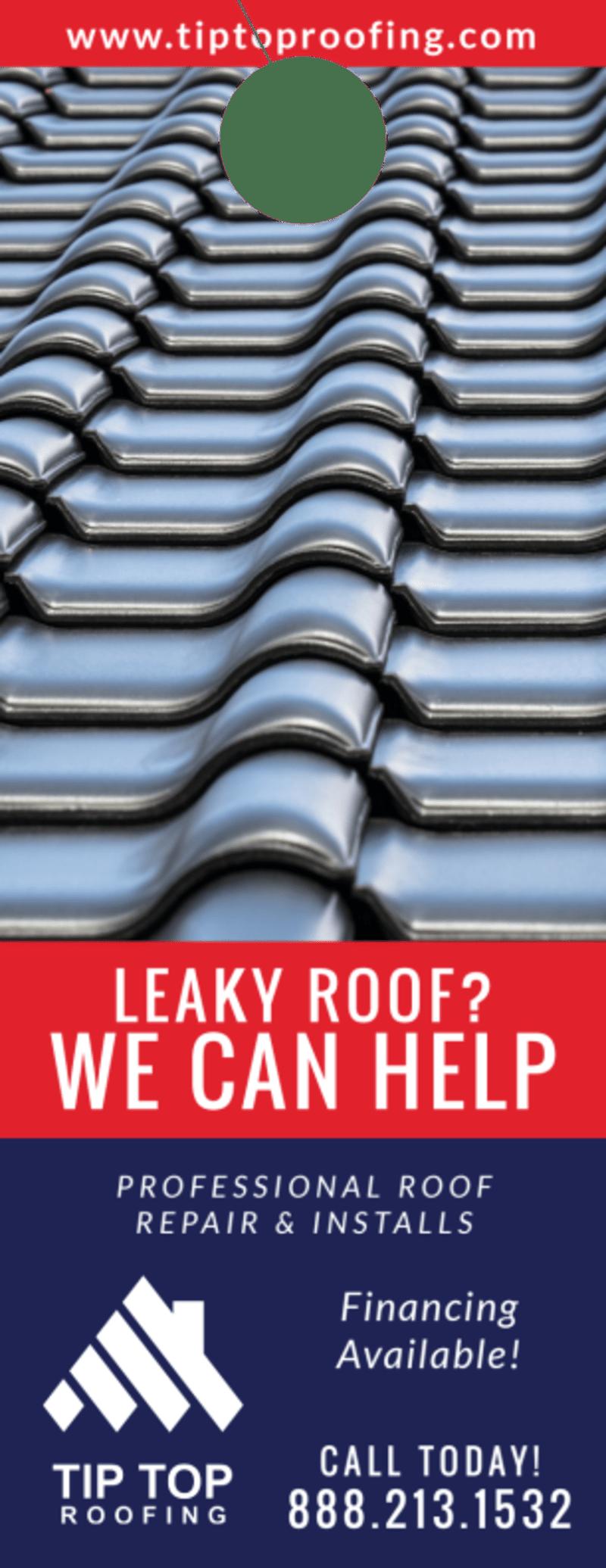 Professional Roofing Door Hanger Template Preview 2