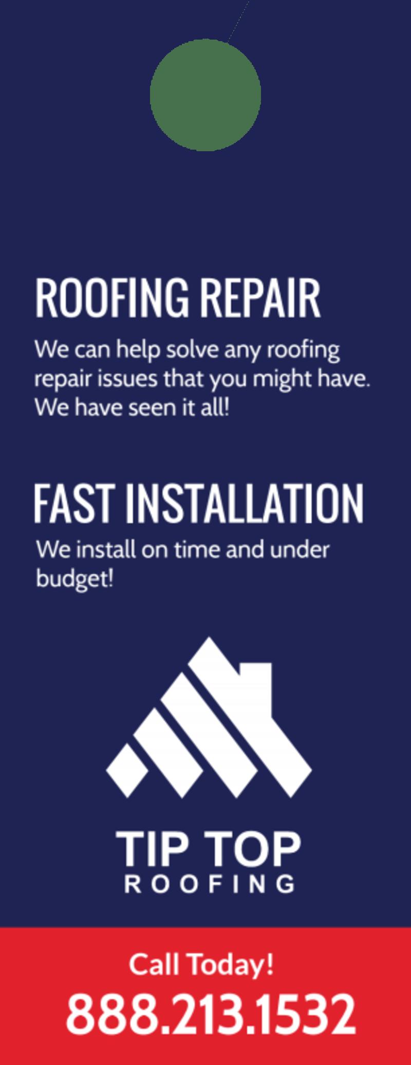 Professional Roofing Door Hanger Template Preview 3
