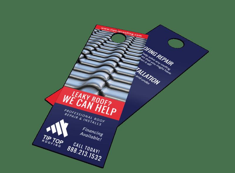 Professional Roofing Door Hanger Template Preview 1
