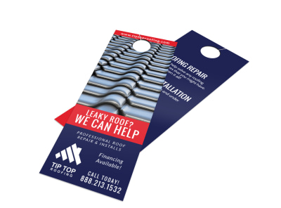 Professional Roofing Door Hanger Template