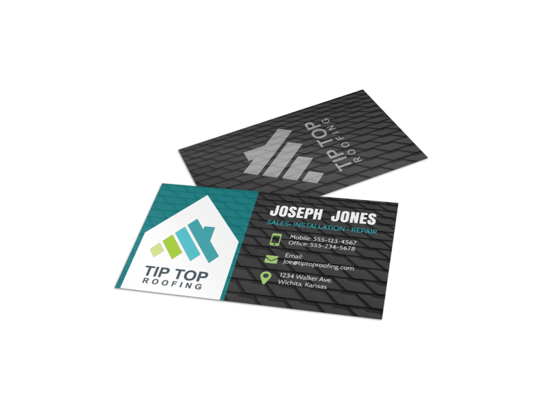 Awesome Roofing Business Card Template Preview 1