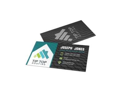 Awesome Roofing Business Card Template preview