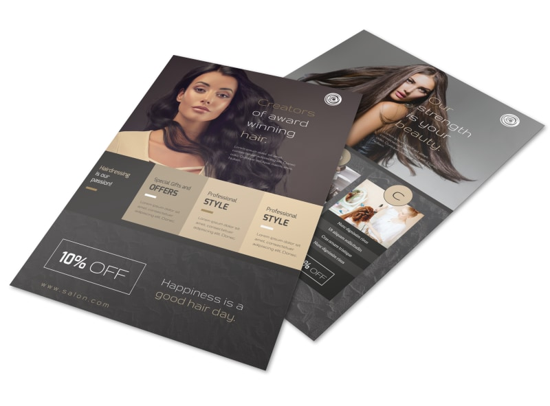 Modern Hair Salon Services Flyer Template